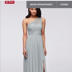 Long one shoulder Bridesmaid Dress.